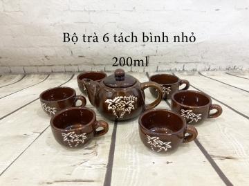 Bộ trà 6 tách bình nhỏ
