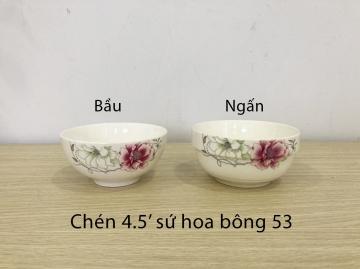 Chén sứ hoa bông 53