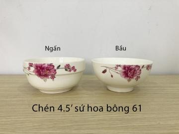 Chén sứ hoa bông 61
