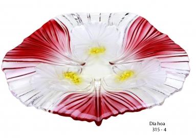 Dĩa hoa màu