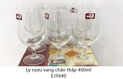 Ly rượu vang chân thấp 400ml