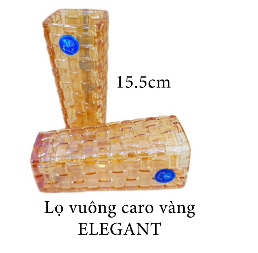 Lọ caro vuông 15.5cm